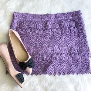 American Eagle • Lavender Lace Skirt
